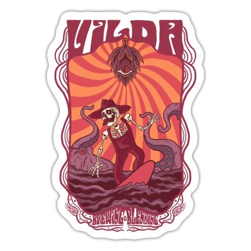 Vilda Surfer - Klistermärke