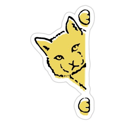 En gul katt - Klistermärke