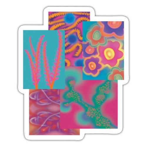 Collage der Natur - Sticker