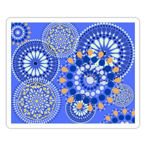 Fleur Hippie bleu - Autocollant