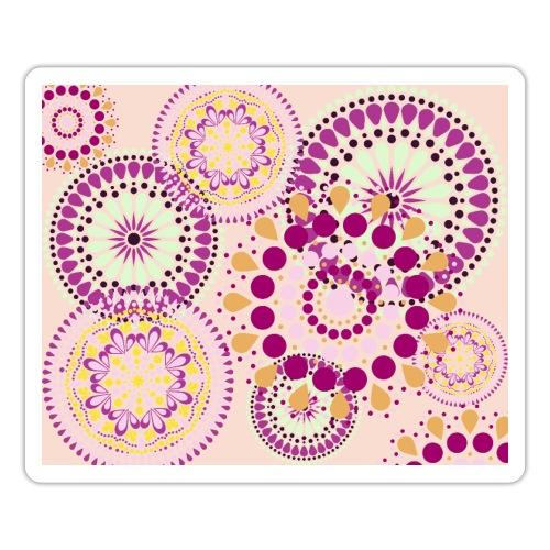 Fleur Hippie rose - Autocollant