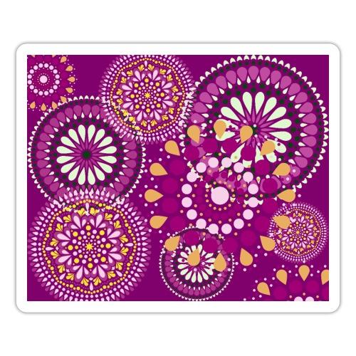 Fleur Hippie mauve - Autocollant