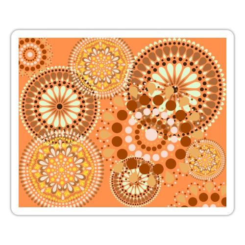 Fleur Hippie orange - Autocollant
