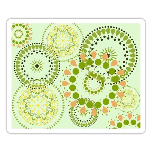 Fleur Hippie vert clair - Autocollant