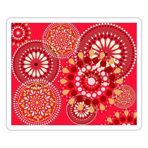 Fleur Hippie rouge - Autocollant
