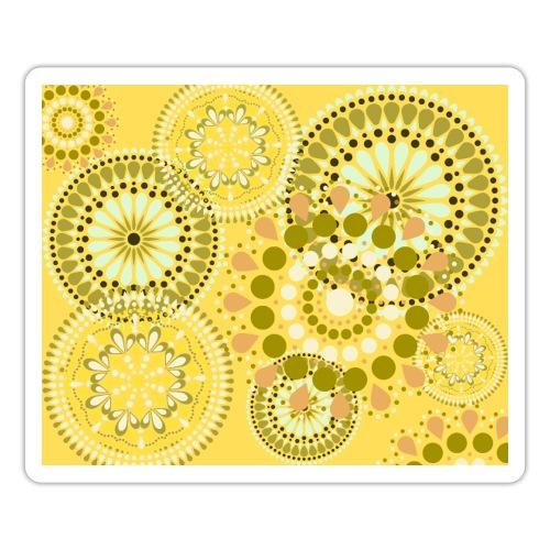 Fleur Hippie jaune - Autocollant