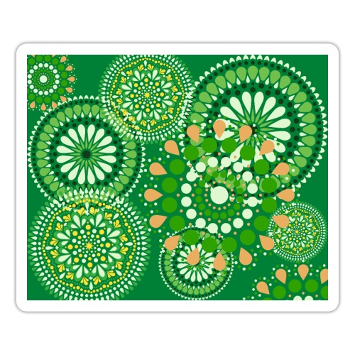 Fleur Hippie vert - Autocollant