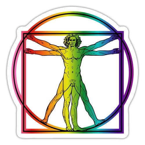 Vitruvian Man Rainbow 8 color - Tarra