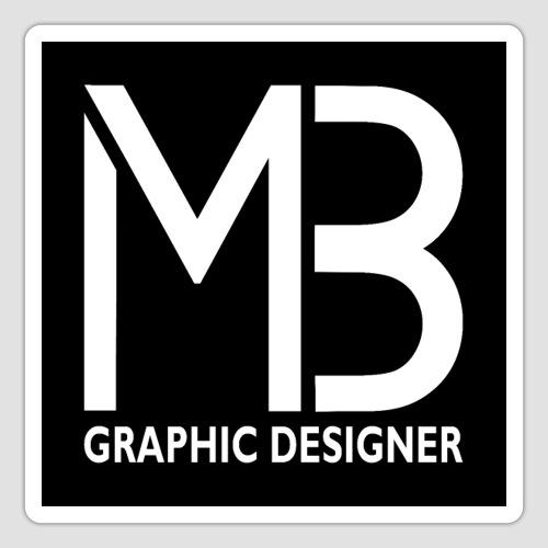 Logo MB Graphic Designer Black - Adesivo