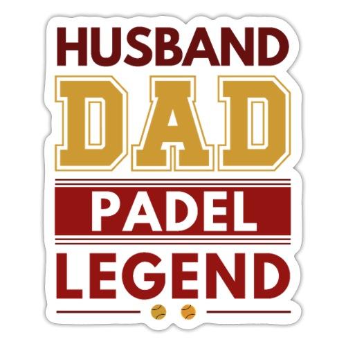 Man Pappa Padel Legend - Klistermärke