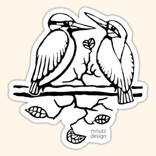 Eisvogel Liebe - Sticker