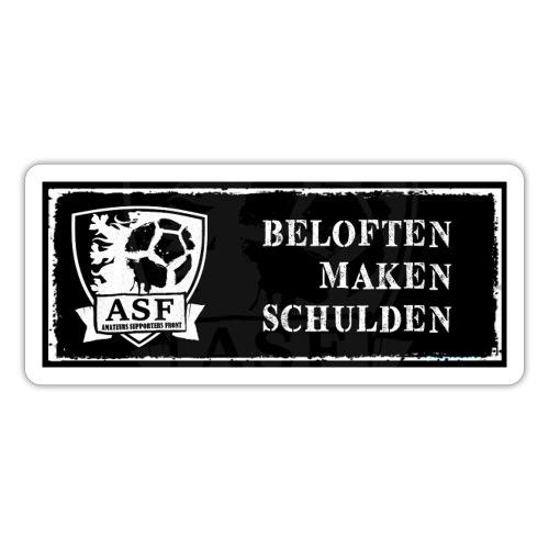 Banner actie 'Beloften maken schulden' - Sticker