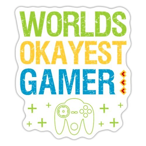 Worlds Okayest Gamer Funny Video Game Design - Klistermärke