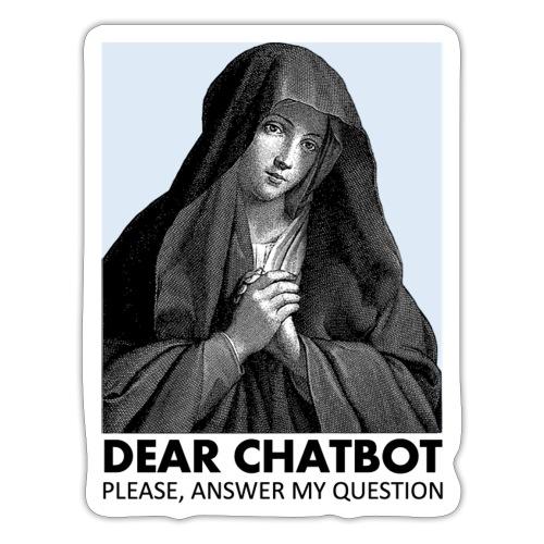 Prière de chatbot - Autocollant