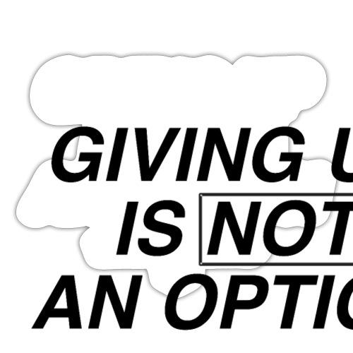 NO OPTION - Sticker