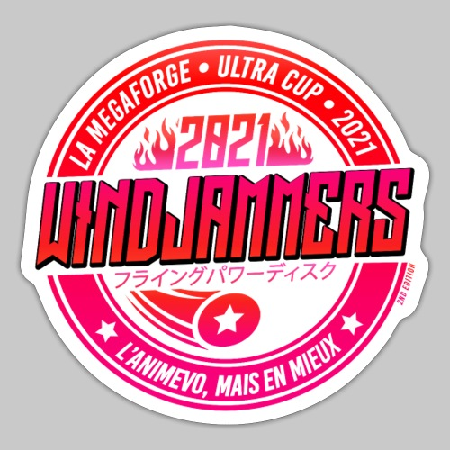 WINDJAMMERS ULTRA CUP 2021 - Autocollant