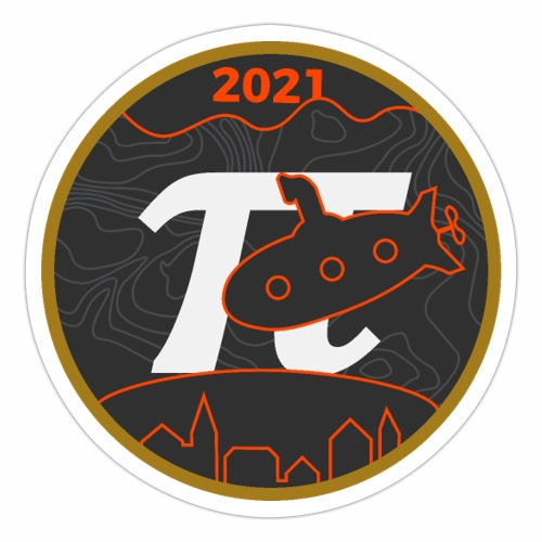 Årslogo 2021 - Sticker