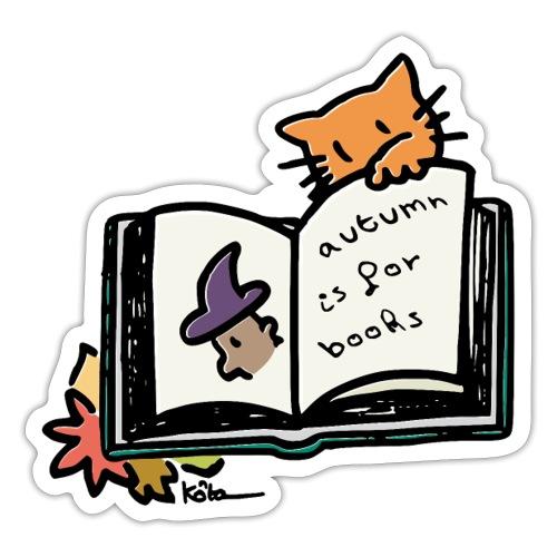L'automne, c'est pour les livres ! - Autocollant