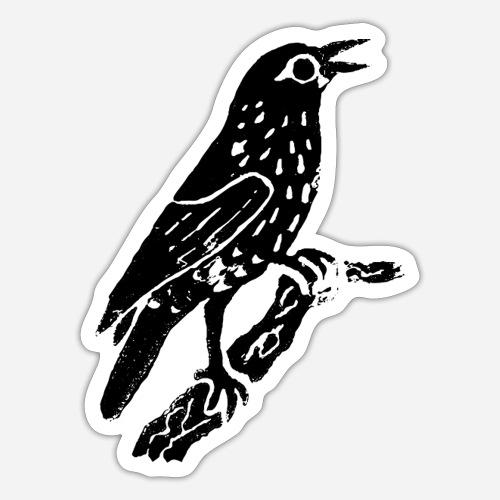 Amsel | Schwarzdrossel | Vogel auf T-Shirt - Sticker