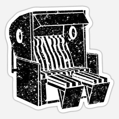 Strandkorb Illustration von Clarissa Schwarz - Sticker