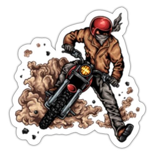 Motor bike racer - Sticker