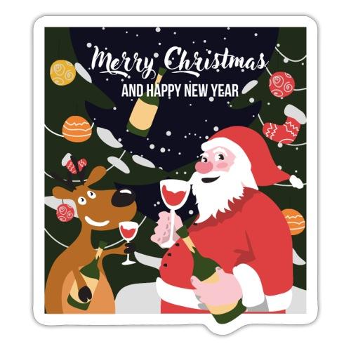 Merry Christmas and a happy new year - Jultröjor - Klistermärke