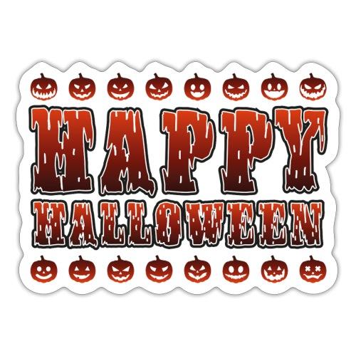 Happy Halloween med pumpor - Klistermärke