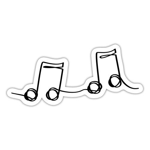 Muzikale bladmuziek muzieknoten patroon. Muziek - Sticker