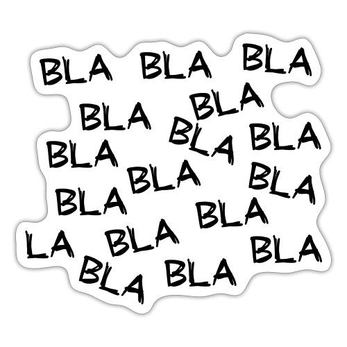 Bla bla bla. Leuke grappige humor. Mondkapje - Sticker