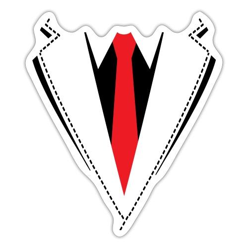 Vlinderdas of stropdas kostuum. - Sticker