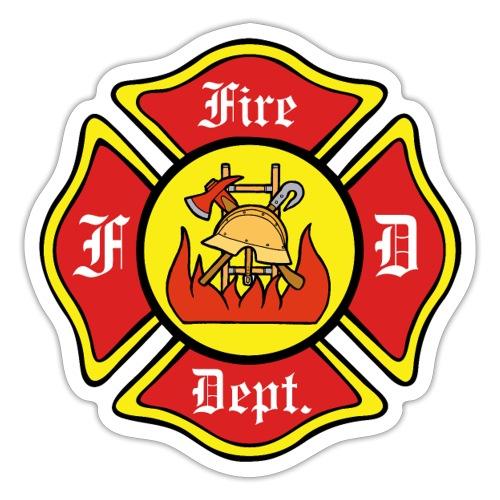 Feuerwehrschild-Fire-Dept - Sticker