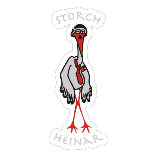 storchheinarcomic weisseSchrift - Sticker