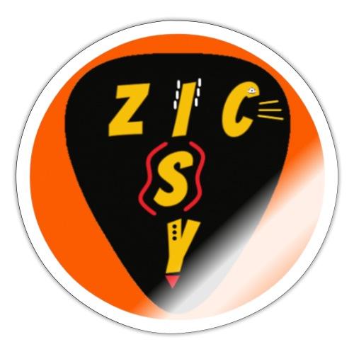 Zic izy rond orange - Autocollant