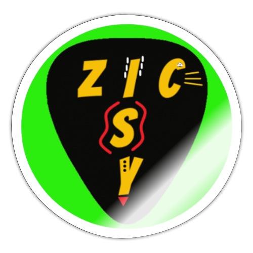 Zic izy rond vert - Autocollant