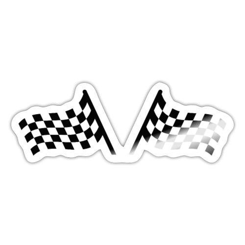 Racing Flag Black - Autocollant