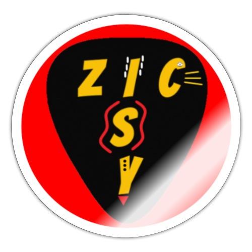 Zic izy rond rouge - Autocollant