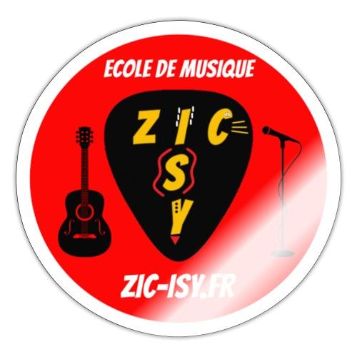 Zic izy ecole de musique rouge - Autocollant