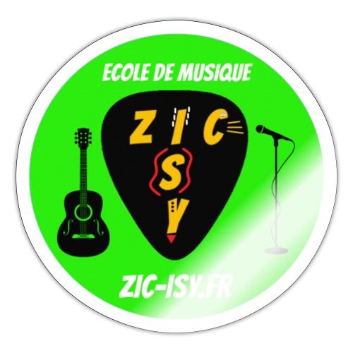 Zic izy ecole de musique vert - Autocollant