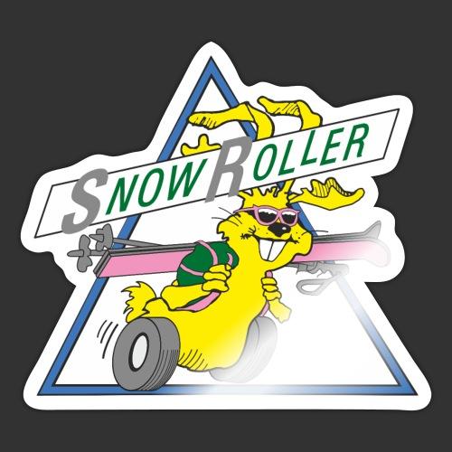 SnowRoller logo - Klistermärke