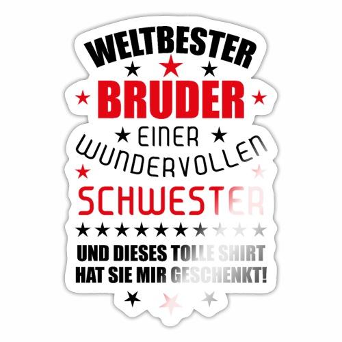 13 Weltbester Bruder wundervollen Schwester - Sticker