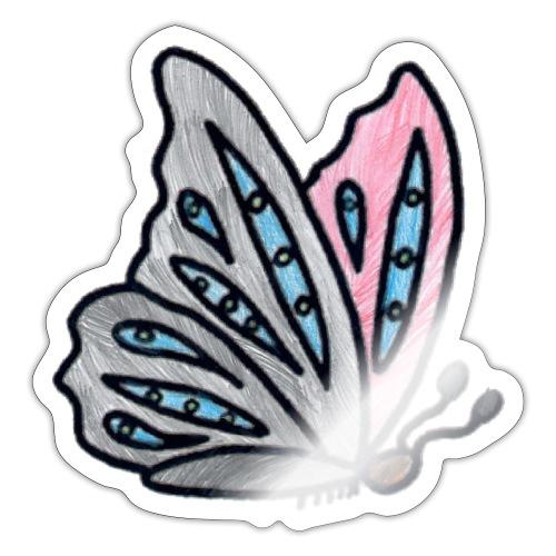 Fjäril - Klistermärke