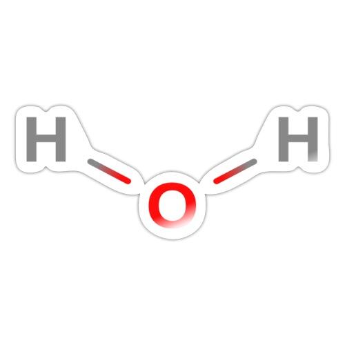 Water Molecule - Colored Structural Formula - Sticker