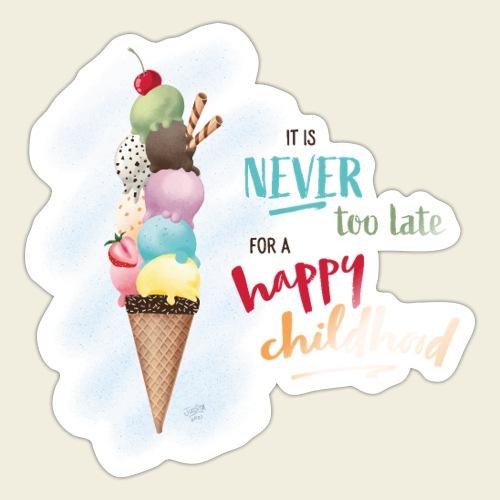 Eis - Kindheit - Sticker