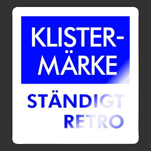 BLÅVITT KLISTERMÄRKE - Klistermärke
