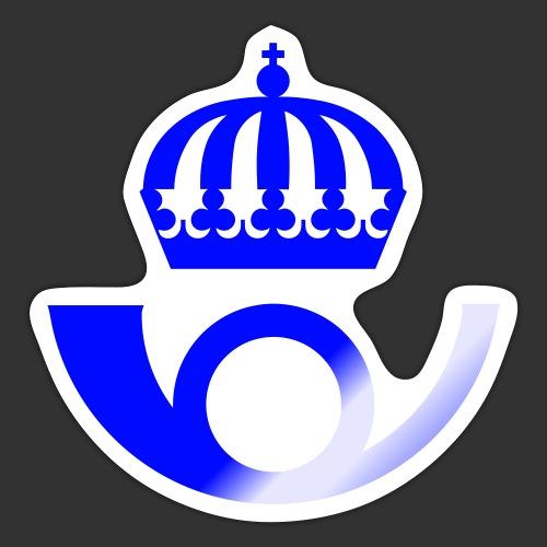 Kungliga Postverket - Klistermärke