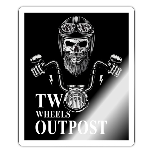 TWO Wheels Outpost - Pegatina