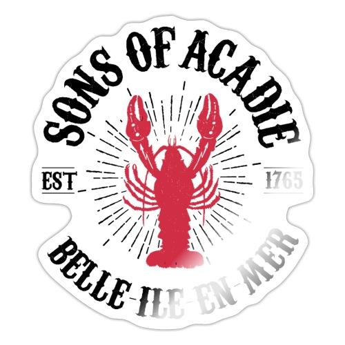 Sons of Acadie Homard Rouge et Noir - Autocollant