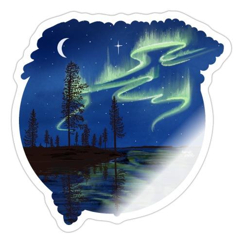 Reflet des aurores boréales - lapland8seasons - Autocollant
