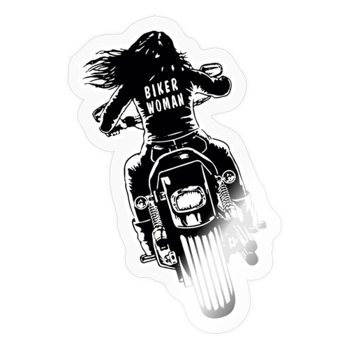 Biker Woman - Pegatina