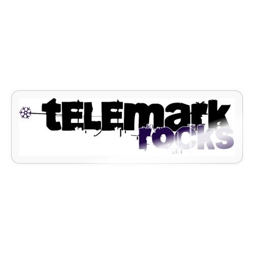 telemark rocks blau - Sticker